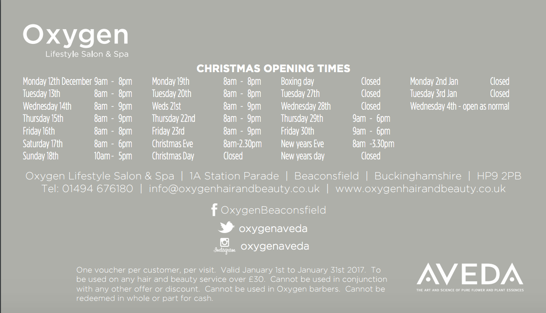 Christmas Beauty Appointments.Beaconsfield Spa Beaconsfield Beaconsfield